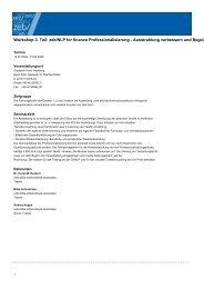 Workshop 3. Teil: zeb/NLP for finance Professionalisierung ...