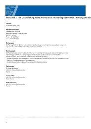 Workshop 3. Teil: Qualifizierung zeb/NLP for finance - zeb/rolfes ...