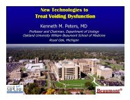 New Technologies to Treat Voiding Dysfunction