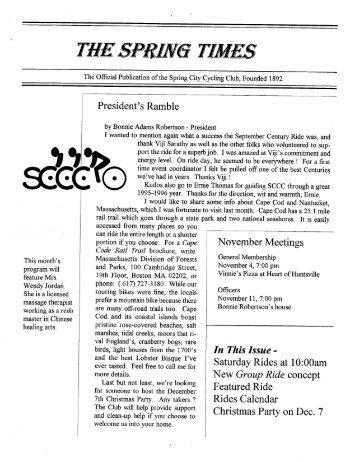 """sci-:""""-""""\'Q> - Spring City Cycling Club"""