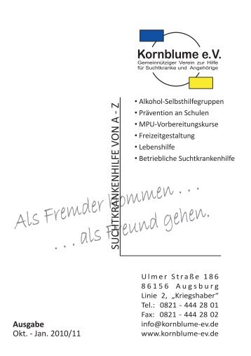 """TREFF"" am Donnerstag - Kornblume eV"
