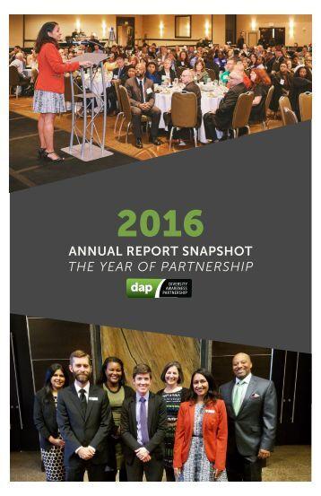 DAP 2016 Annual Report Snapshot