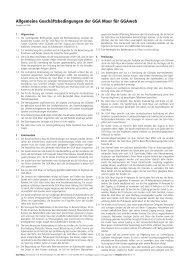 Allgemeine Geschäftsbedingungen der GGA Maur für GGAweb