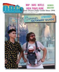 This week June 21 - 27, Palm Springs California Your LGBT Desert Daily Guide Since 1994
