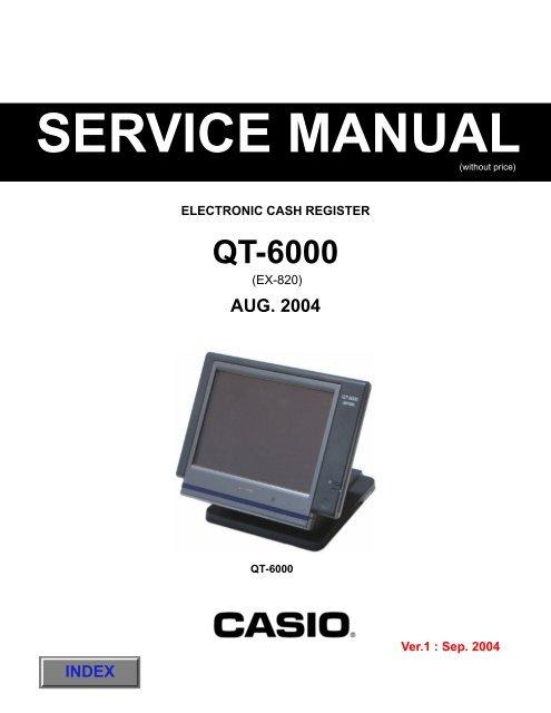casio qt 2000 electronic cash register 1997 repair manual