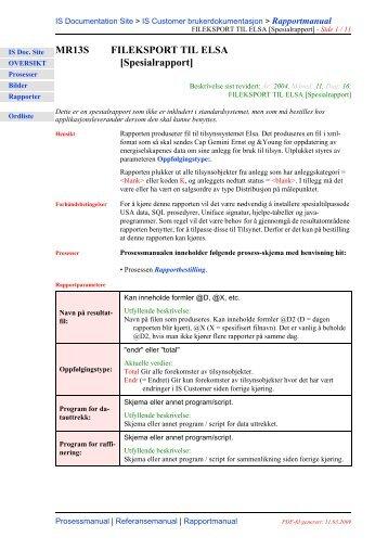 MR13S FILEKSPORT TIL ELSA - IS Documentation Site