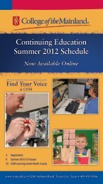 Continuing Education Summer 2012 Schedule - College of the ...
