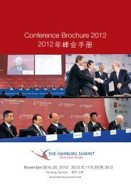 Conference Brochure 2012 2012 - Hamburg Summit