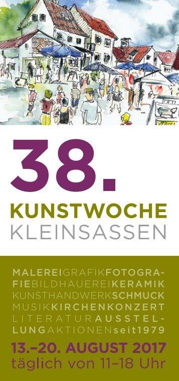 Kunstwoche Kleinsassen - Programmheft-2017 - RZ-web