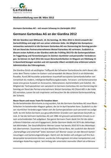 Germann Gartenbau AG an der Giardina 2012