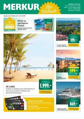 Merkur Ihr Urlaub Folder Juli 2017