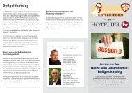 Bußgelder - Auszug aus dem Hotel- und Gastronomie-Bußgeldkatalog