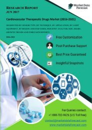 Analyzing the trends and forecasting Global Cardiovascular Therapeutic Drugs Market (2016-2021)