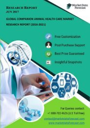 Global companion Animal Health Care Market Research Report