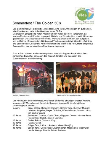 Sommerfest / The Golden 50's - Silea