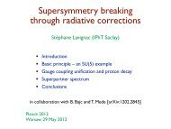 Supersymmetry breaking through radiative corrections - Planck 2012