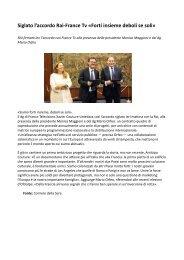 RAI servizio pubblico accordo con France Tv presenti Monica Maggioni e Mario Orfeo