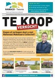 NAMACO Twente Woonmagazine, uitgave juli 2017