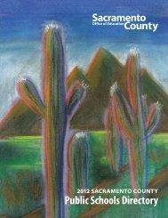 2012 Sacramento County Public Schools Directory