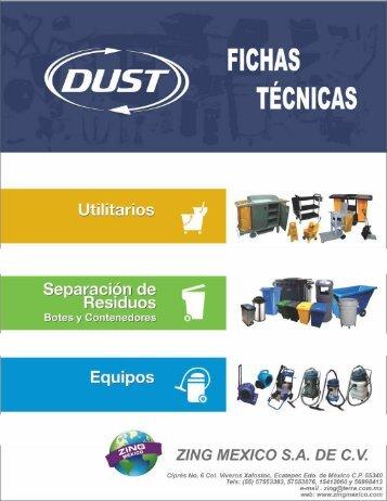 Catálogo fichas técnicas DUST