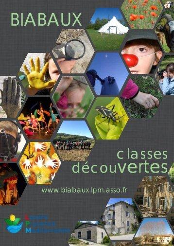 Catalogue classe découvertes -2017-2018