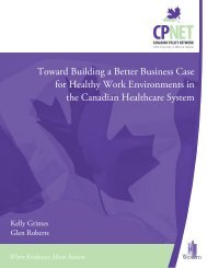 Toward Building a Better Business Case for Healthy Work ...