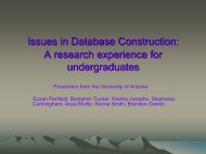 Issues in Database Construction: A research experience for ...