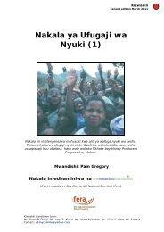 Nakala ya Ufugaji wa Nyuki (Swahili) - TECA