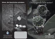 Uhren, Die Geschichte Schrieben - Aristo Vollmer GmbH