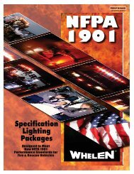 certificate of compliance with nfpa 1901 - Whelen Engineering