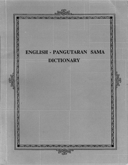 pangutaran sama dictionary
