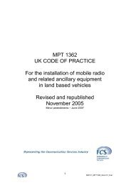 MPT 1362 UK CODE OF PRACTICE For the installation of mobile ...