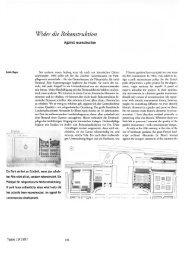 lWider die Rekonstruktion - Hager Partner AG