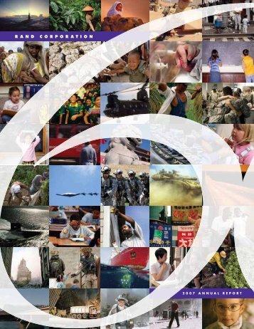 RAND Corporation: Annual Report 2007
