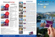 Prague Card Flyer 2017