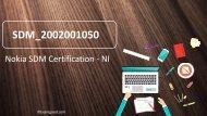 ExamGood Nokia SDM Certification - NI SDM_2002001050 Real Exam Dumps