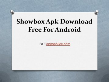 Latest Showbox Apk Download Free For Android