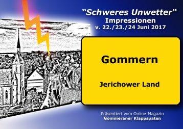 Impressionen v. schweren Unwetter am 22. Juni 2017 in Gommern