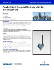 Send 4-20 mA Outputs Wirelessly with the Rosemount 648