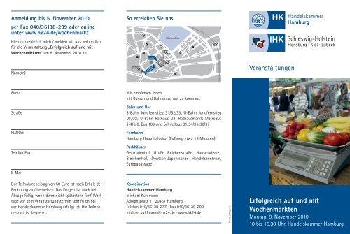 Erfolgreich auf und mit Wochenmärkten - Großmarkt Hamburg