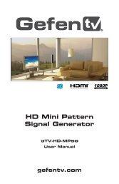 HD Mini Pattern Signal Generator - Gefen