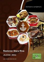 Restoran Stara Riva Pirovac - Jelovnik