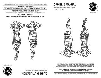 hoover windtunnel t series manual