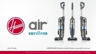 Hoover Air Cordless Series 3.0 Upright Vacuum - BH50140 - Manual