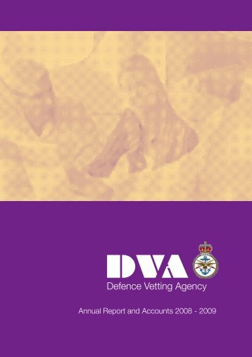 Defence Vetting Agency HC 751 - Official Documents