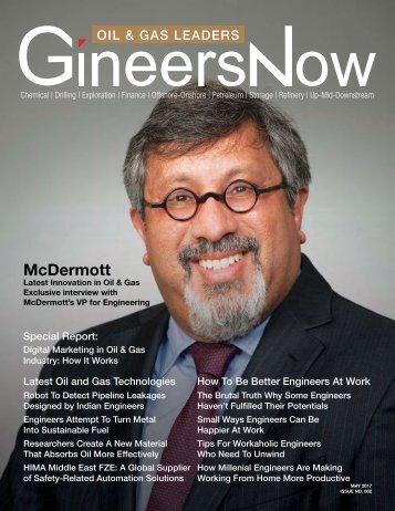 GineersNow Oil and Gas Leaders Magazine May 2017 Issue 002, McDermott Offshore
