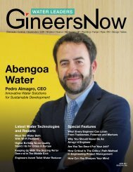 Water Leaders Magazine June 2017 Issue 002, Abengoa Water, desalination, wastewater, valves, pipes, pumps, mechanical, plumbing