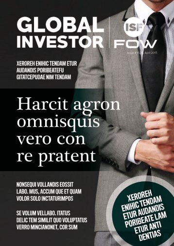 Global Investor Magazine Template