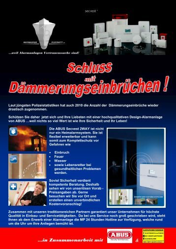 Flyer Herbst2010/ Winter2011 - MP Security