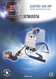 elektro 200 mp welding inverters arc/tig/mig - Elektrosta